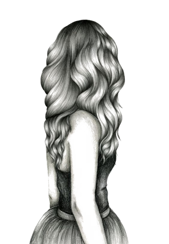 Curls drawing. For girls hair sketch