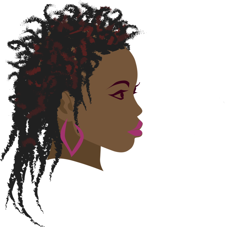 Curls drawing afro. Hair in crown woman