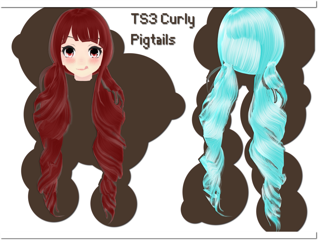 Curls drawing anime. Ts curly pigtails download