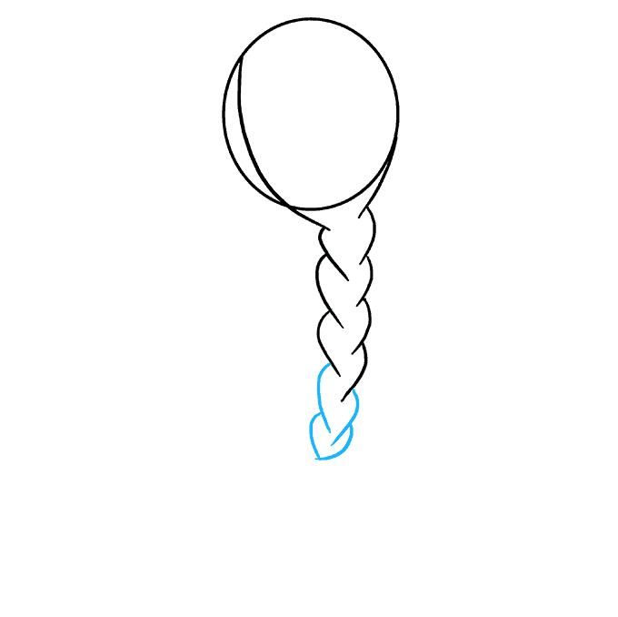 Plat drawing fish tail braid. How to draw a