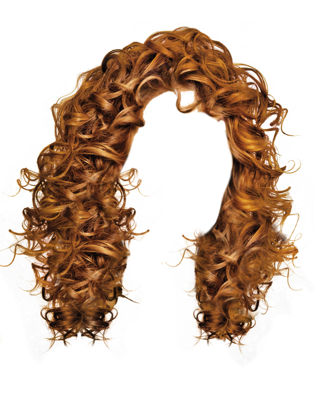 Curls drawing ringlet. Ginger redhair redhead hair