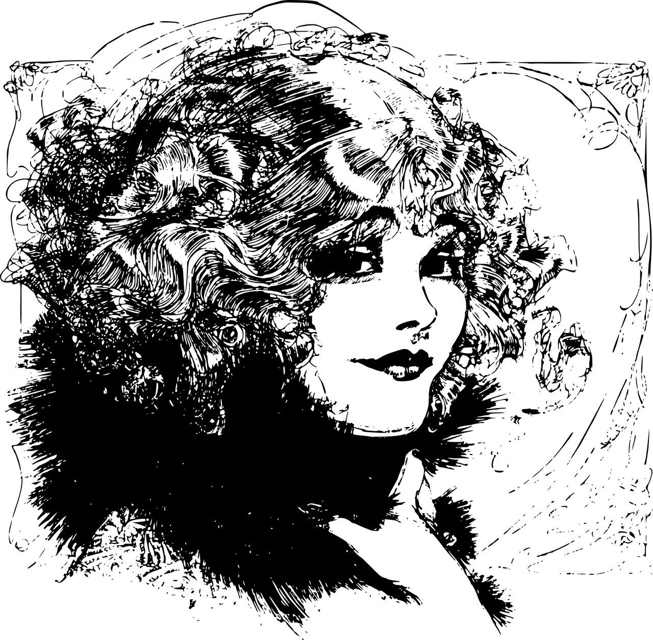 Curls drawing natural hair. Best tips for girls
