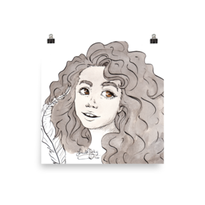 Curls drawing ringlet. Hermione granger in ink