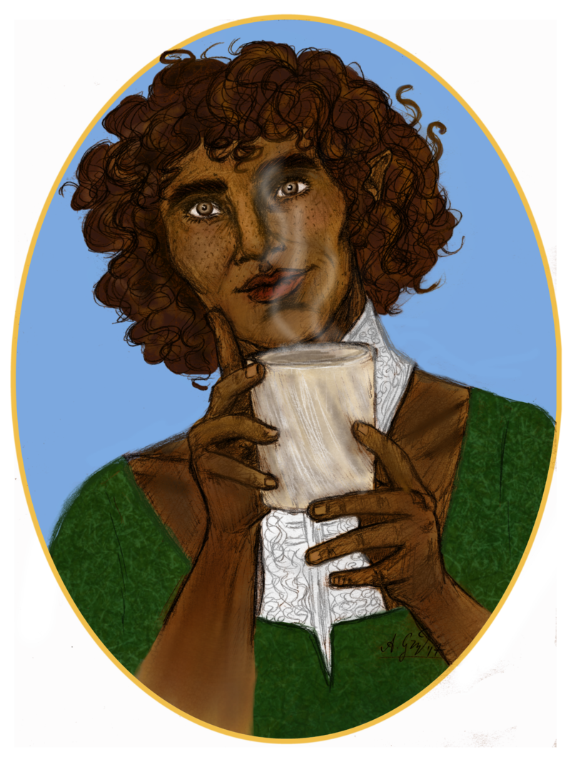 Curls drawing self portrait. Briala by mutantenfisch on