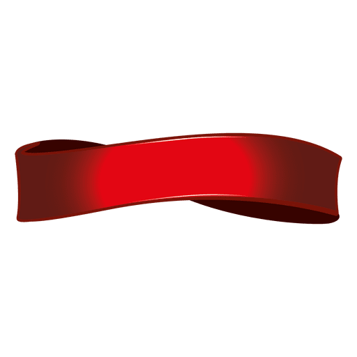 Curls drawing twisted ribbon. Red transparent png svg