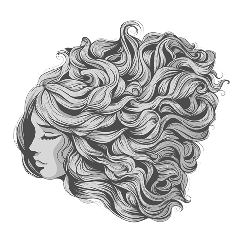 curls drawing curled hair