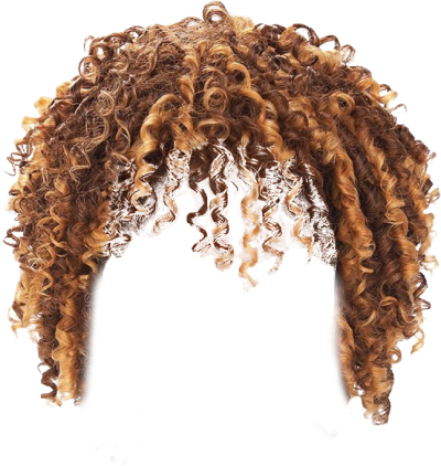 black curly hair png