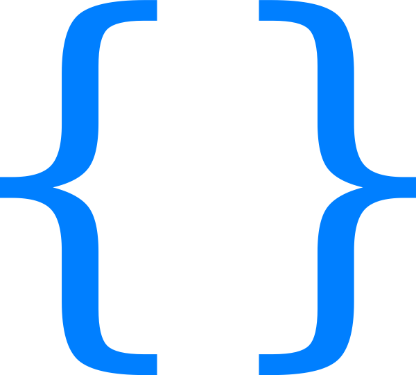 Curly bracket png. Blue braces clip art