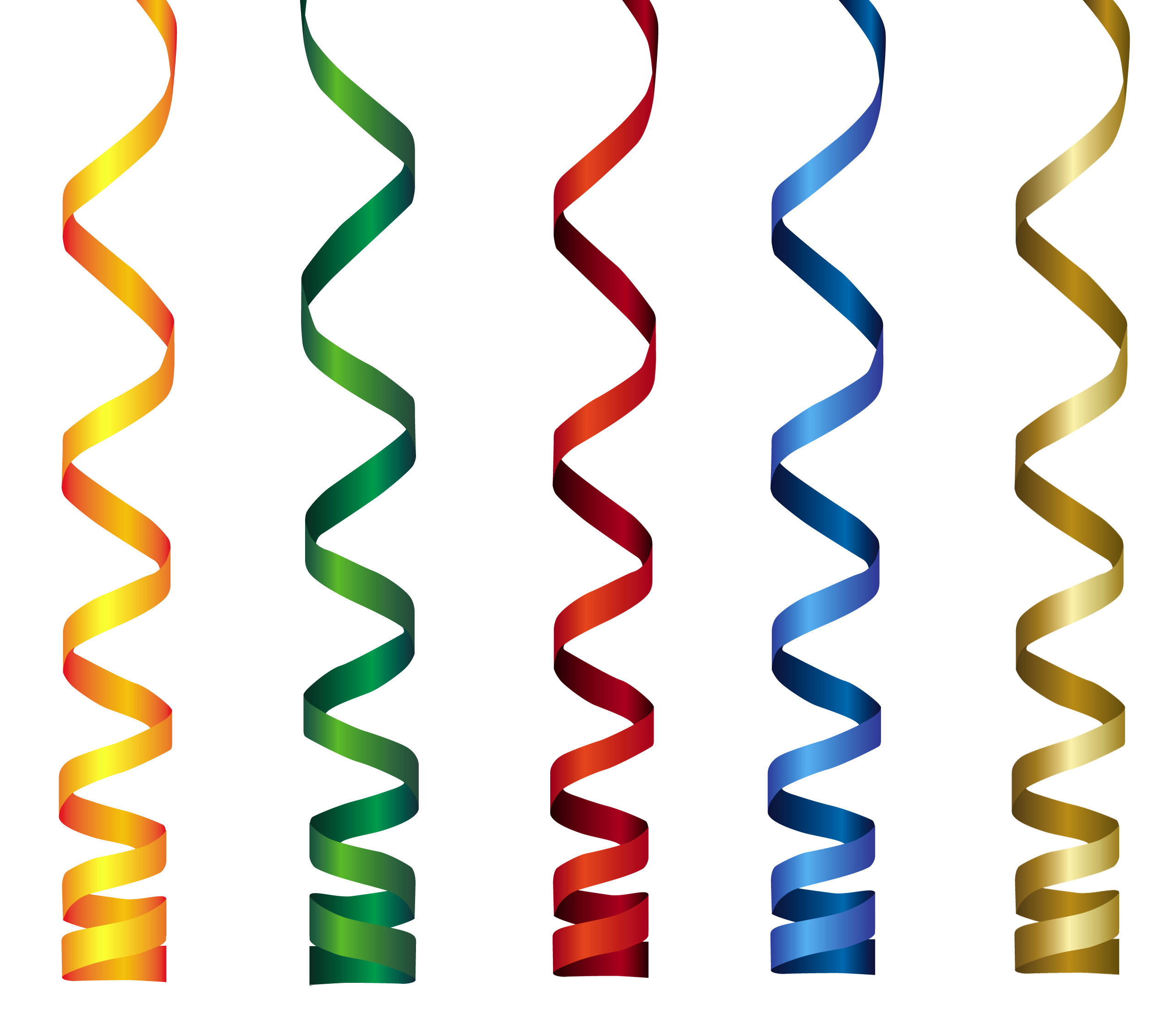 Curly clipart. Ribbons transparent png clip