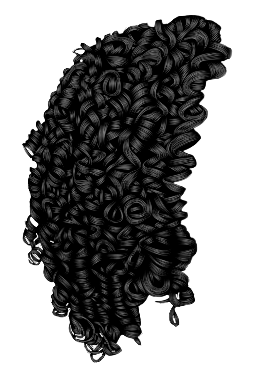 Curly hair transparent png. Curls image with background