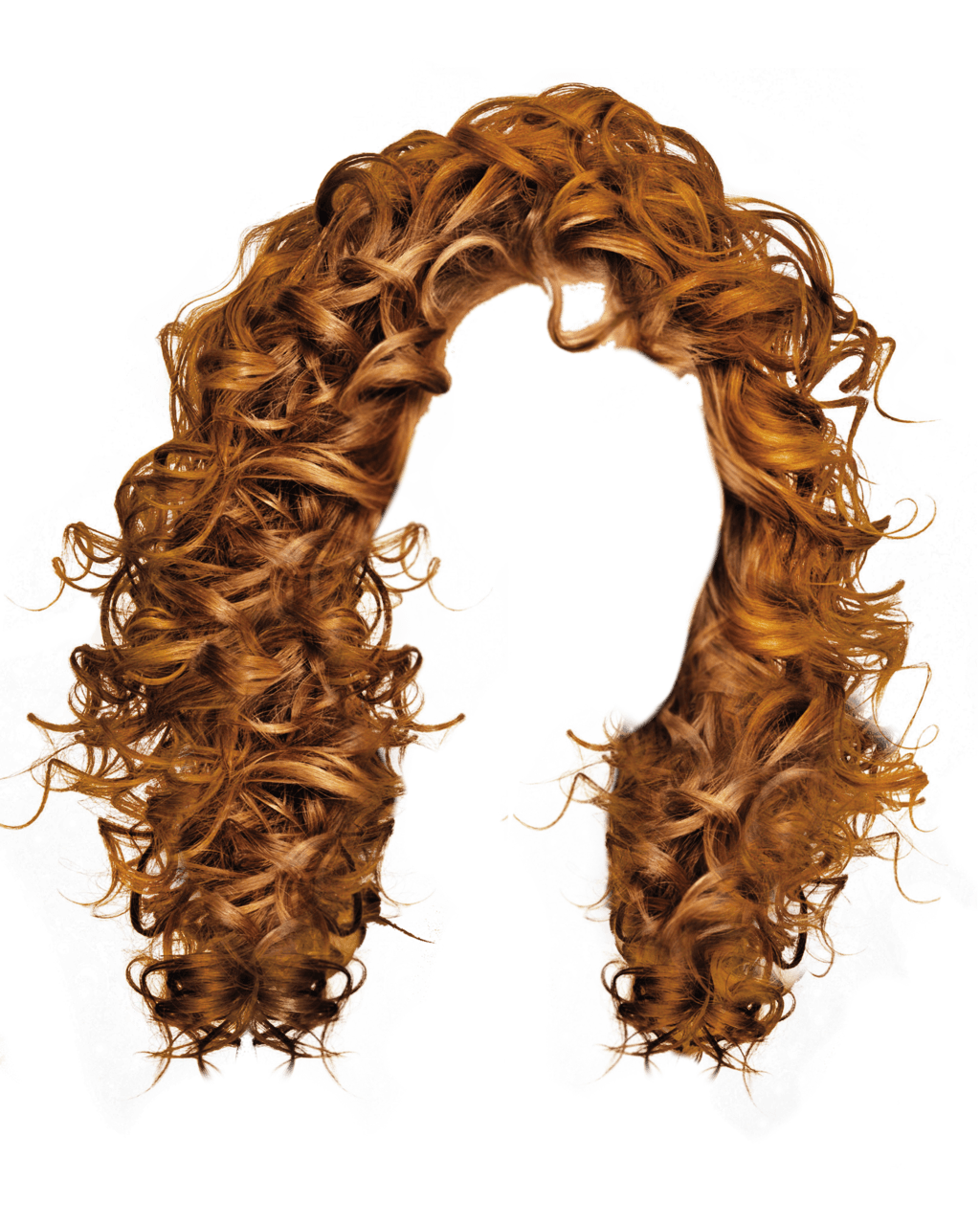 Curls drawing ringlet. Curly women hair transparent