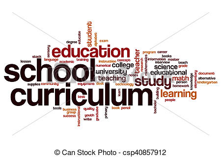 School word cloud concept. Curriculum clipart clip black and white library