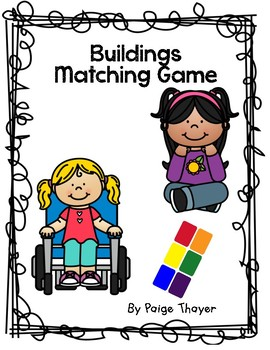 Buildings matching game by. Curriculum clipart creative curriculum picture stock