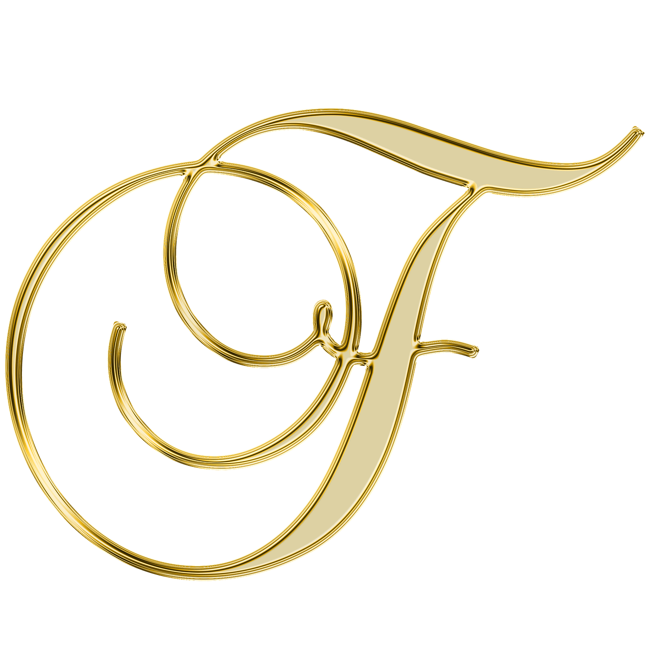 Cursive letter f png. Case h initial others