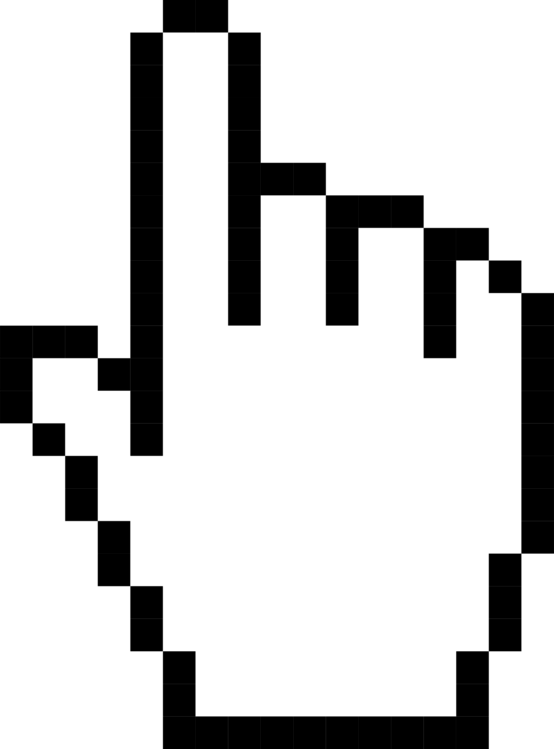 Pointer computer mouse hand. Cursor svg clip art graphic library