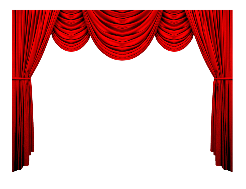 Curtain background png. Red image