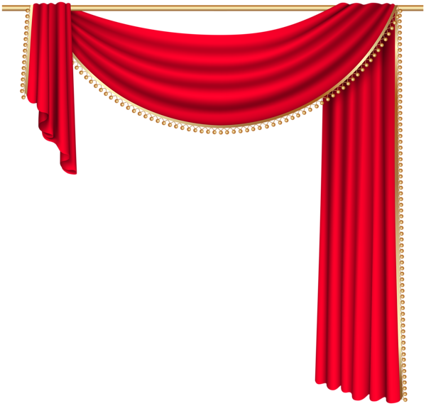 Curtains transparent. Red curtain png clip