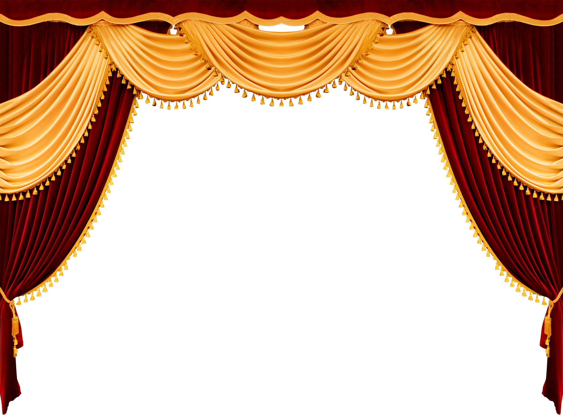 Stage transparent gold. Curtains png