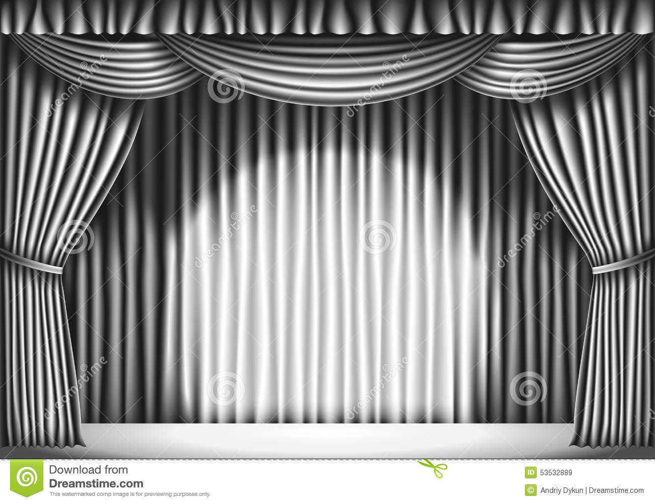 Stage with stock vector. Curtain clipart black and white png black and white download