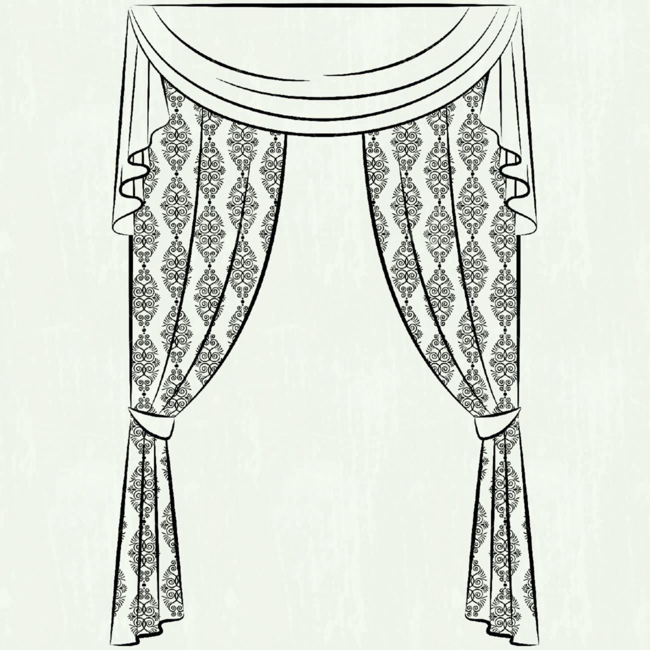 Red png image gallery. Curtain clipart black and white svg download