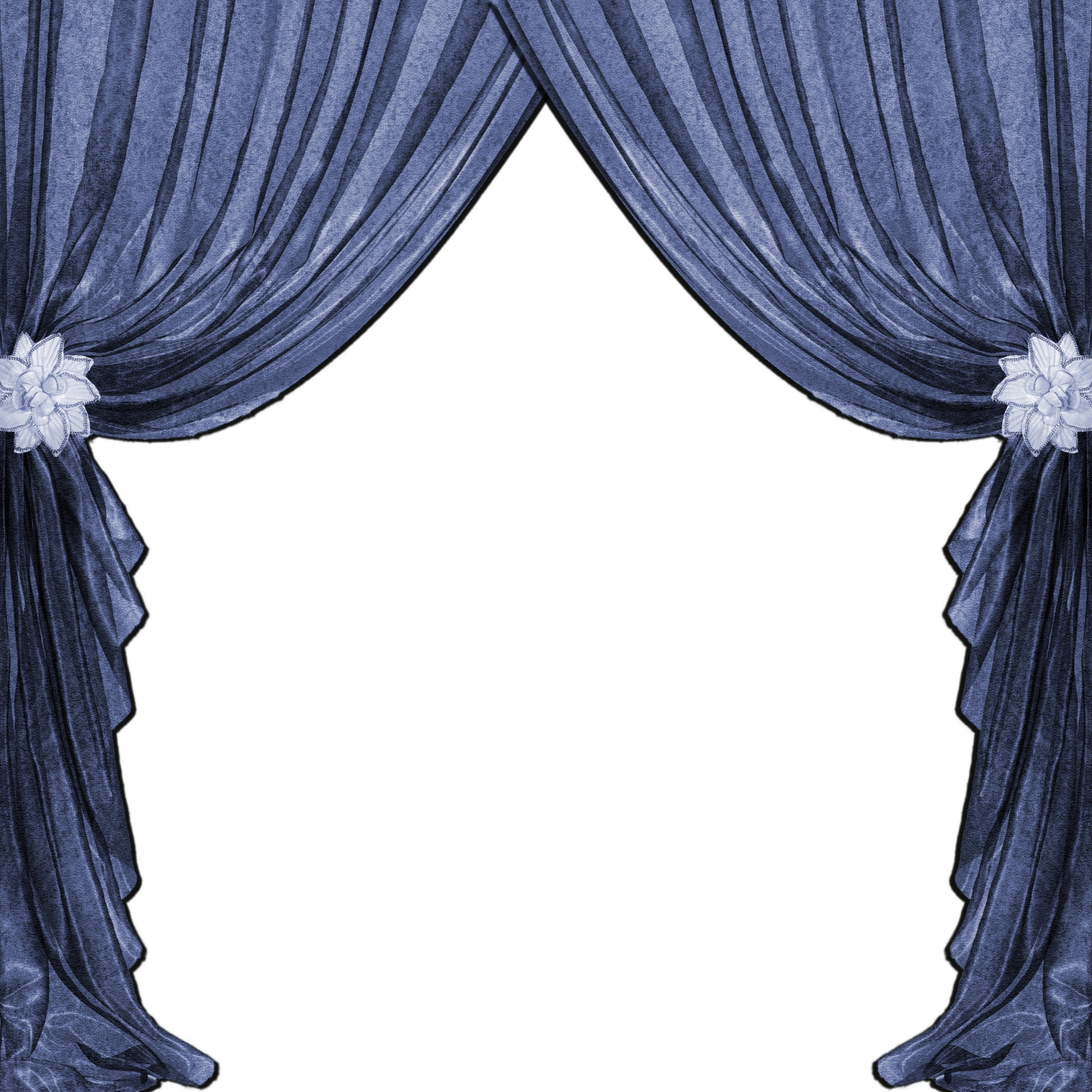 Curtain clipart blue curtain. Drapes curtains free stock