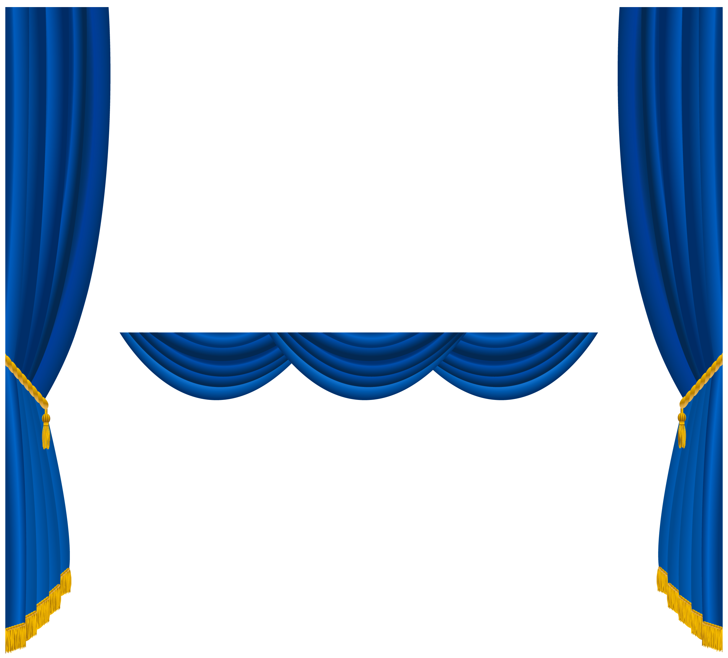 Curtain clipart blue curtain. Transparent curtains decoration png