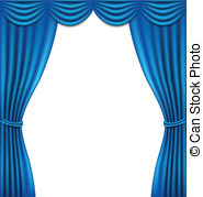 Curtain clipart blue curtain. Curtains on white background svg black and white download