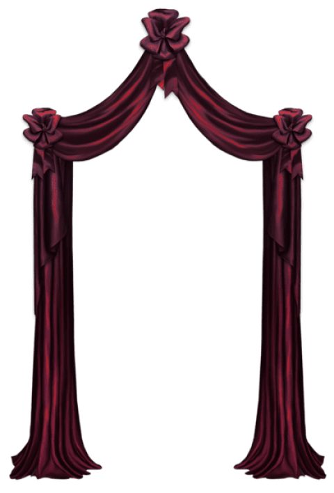 Curtain clipart corner. Download red decorpicture png