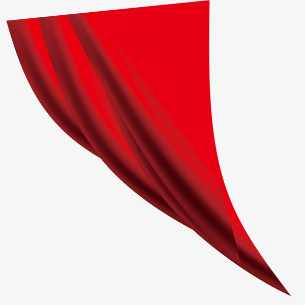 Curtain clipart corner. Red fluttering wrinkled corners image library download