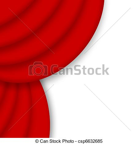 Red drape over white. Curtain clipart corner jpg royalty free