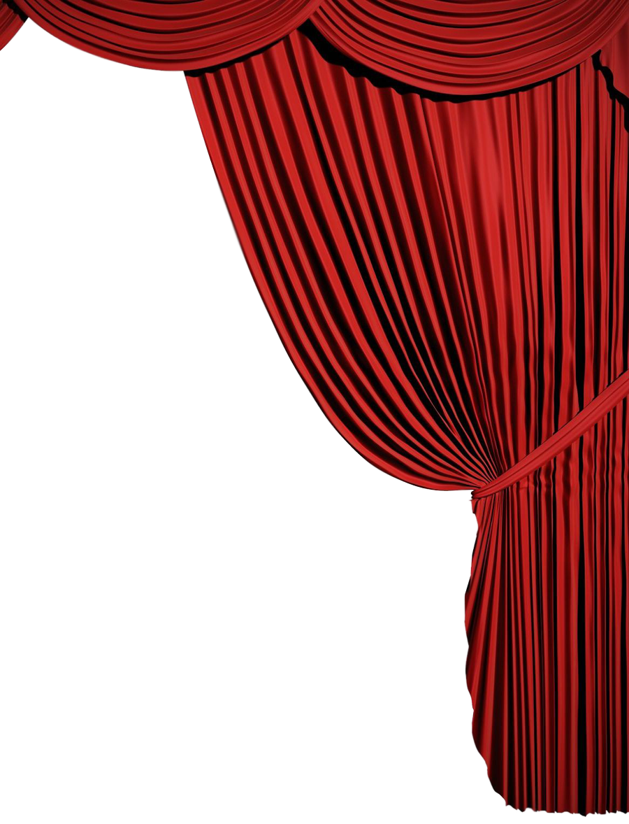 Corner Curtains Clipart Red Png - 344 - TransparentPNG