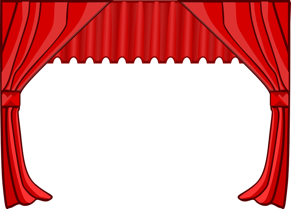 Curtain clipart curtain raiser. Vector curtains illustrator frames