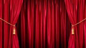 Curtain clipart curtain raiser. Vector design lajada