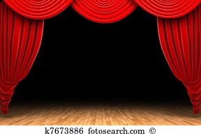 Curtain clipart curtain raiser. Pencil and in color clip art black and white stock