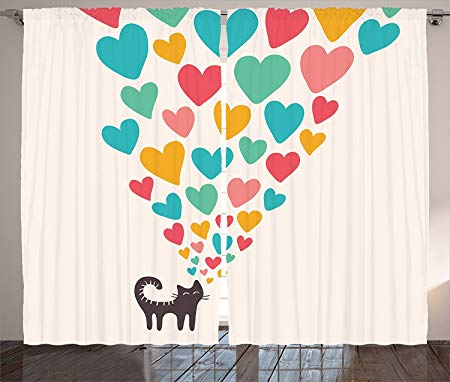Curtain clipart cute. Cat lover decor collection