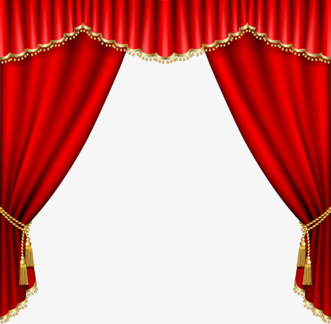 Curtain clipart cute. Red cartoon png image