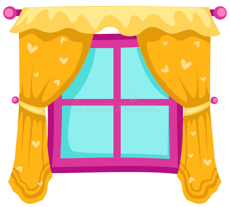 Window with curtains stock. Curtain clipart cute picture library download