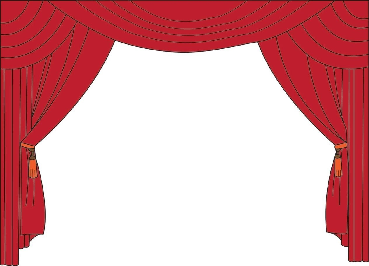 Unique curtains free image. Curtain clipart elegant vector royalty free