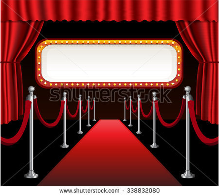 Curtain clipart elegant. Red carpet movie premiere vector royalty free stock