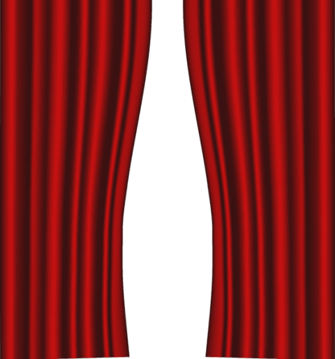 Curtain clipart elegant. Download red curtains transparent