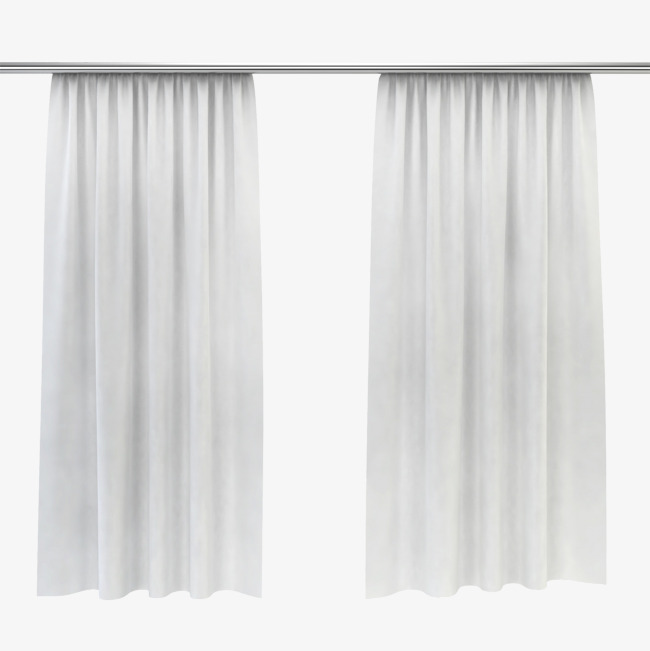 White material object window. Curtain clipart elegant vector transparent