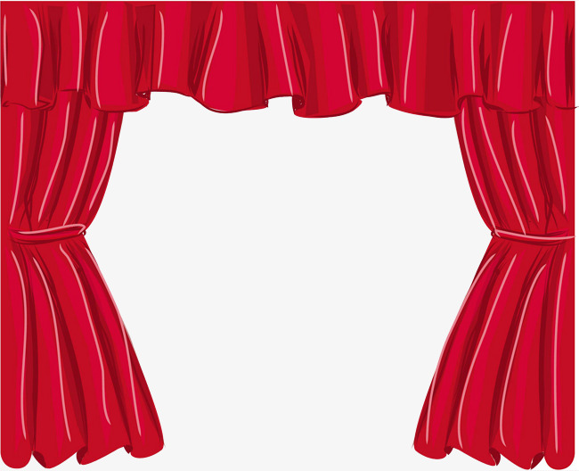 Red opened the png. Curtain clipart elegant graphic free