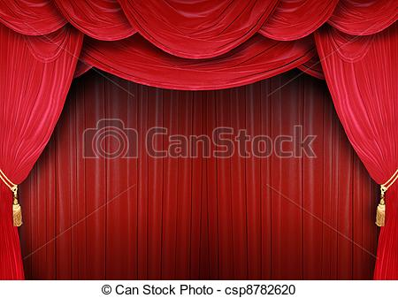 Opera house with curtains. Curtain clipart elegant clip library library
