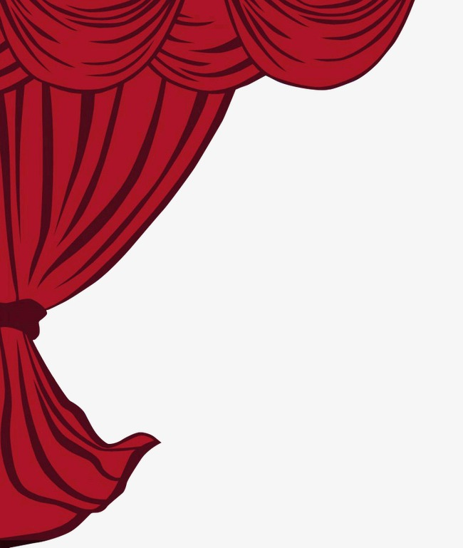 Red curtains hd png. Curtain clipart left clip art royalty free download