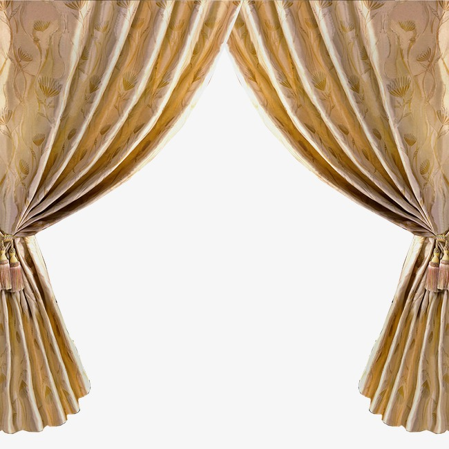 Gold curtains png image. Curtain clipart left svg black and white