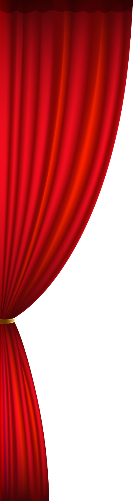 Red stage png . Curtain clipart left royalty free