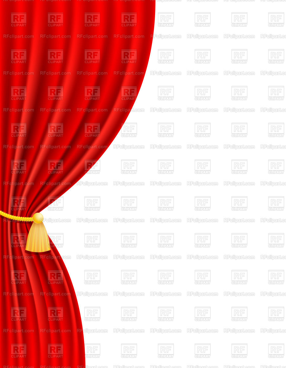 Red theatrical side on. Curtain clipart left clip art transparent library