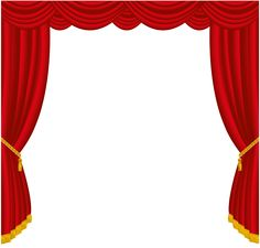 Red theatre blackandred curtains. Curtain clipart play graphic black and white library