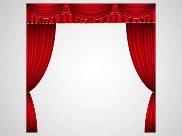 Stage curtains in red. Curtain clipart play clip art