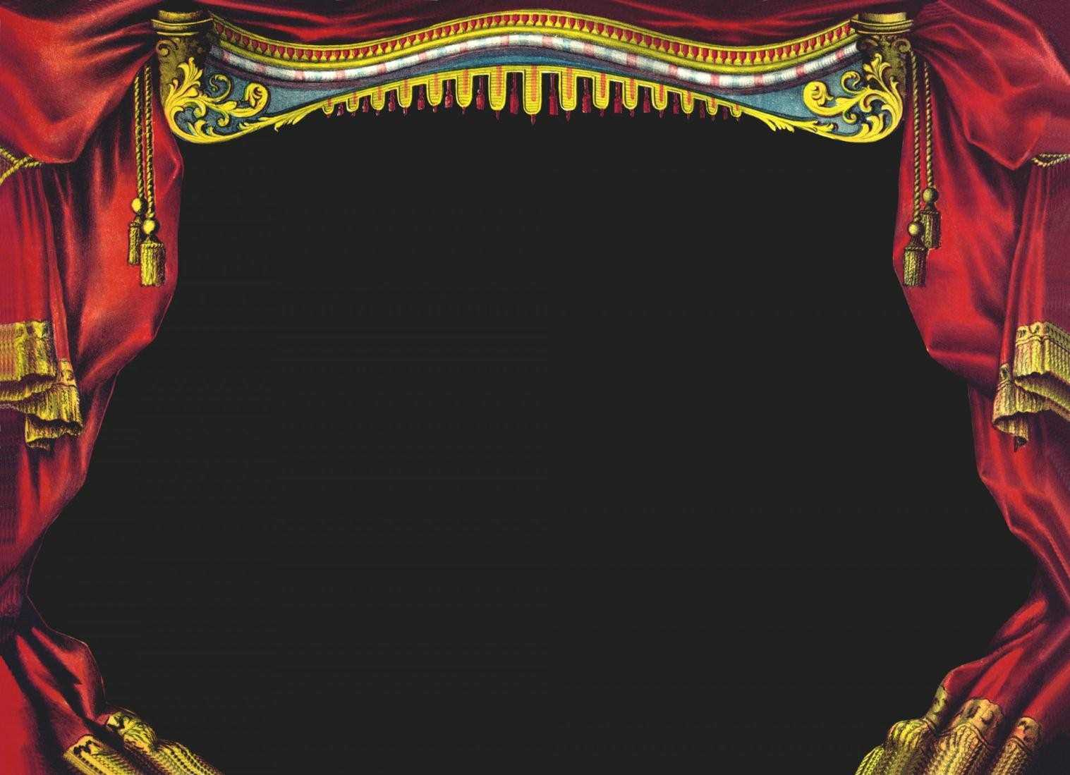 Marvelous open stage pencil. Curtain clipart real svg transparent